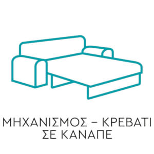 Μηχανισμός - Κρεβάτι σε Καναπέ